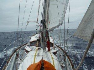Relance est heureux en mer, en route pour les Açores .