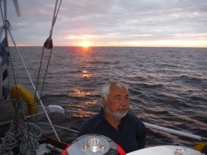 Le dernier levé de soleil du voyage. ce soir nous serons arrivé au Légué !